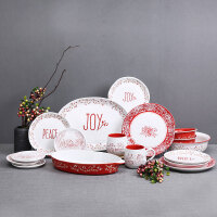 Evergreen爱屋格林美式居家创意手绘陶瓷碗盘碟杯餐具套装