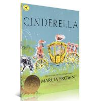 【全店300减100】英文原版进口 Cinderella 灰姑娘 Marcia Brown 凯迪克绘本大奖 儿童启蒙阅读