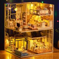 智趣屋diy小屋手工创意制作小房子别墅拼装模型生日礼物女孩玩具