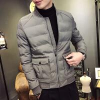 男士外套冬季新款男款短款潮流百搭韩版修身个性帅气袄子