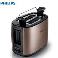 Philips/飞利浦 HD2658/70烤面包机金属双烘烤槽不锈钢多士炉家用