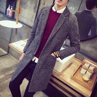 秋季青年男士韩版修身大码潮流长款风衣外套褂子潮男秋衣上衣外衣