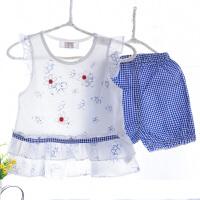 夏季薄款女孩裙子系列空调服宝宝内衣套装婴儿居家空调服