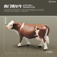 家禽仿真动物牛马羊猪驴狗猫鸭鹅鸡 儿童认知牧场农场动物模型玩具