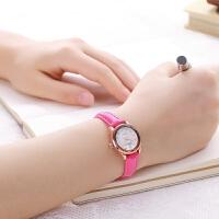 手表女学生韩版简约时尚潮流休闲复古女表防水带石英表