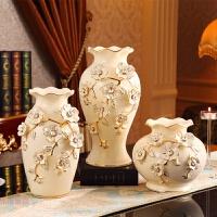 欧式花瓶摆件客厅插花陶瓷台面花瓶家居工艺软装饰品花艺套装摆件