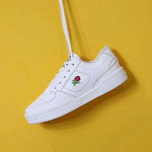 2017春季新款板鞋女运动风帆布鞋韩版小白鞋学生板鞋厚底休闲女鞋运动平底鞋30NX