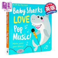 【中商原版】我是故事家:宝宝鲨鱼的摇滚Lift-the-Flap 原版3+岁
