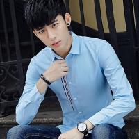 新款2018男士长袖男士个性长袖衬衫春秋季男长袖衬衣青少年休潮流