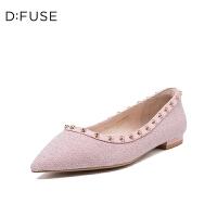 【领券减100】迪芙斯(D:FUSE)女鞋 2019春季专柜同款尖头平底单鞋DF91111015