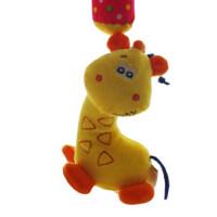 毛绒布艺床挂车挂件 婴儿玩具摇铃0-1岁床铃安抚宝宝