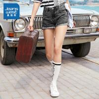 [到手价:83.1元,新年不打烊,仅限1.22-31]真维斯女装2019夏装新款 紧身纯棉牛仔短裤