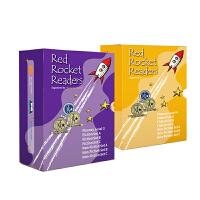 支持小火箭点读笔紫黄盒子 点读版预备级红火箭英语分级阅读fluency leve 3+4 入门有声自然拼读海尼曼绘本