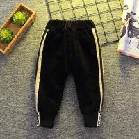宝宝灯芯绒裤子冬装新款男童加绒长裤0-1-3-4岁潮韩版儿童休闲裤