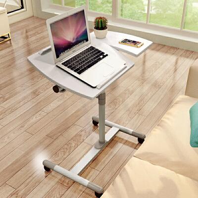 家逸 简约可升降可移动多功能电脑桌双色笔记本桌懒人桌子 简易办公桌床边桌可升降电脑桌 双色可选