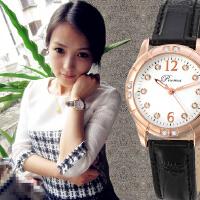 夜光韩版女表皮带时尚可爱学生防水钻手表女时装表女士手表
