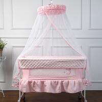 欧式婴儿床带蚊帐床围多功能宝宝bb床摇篮床便携式摇床新生儿童床