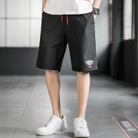 2020夏季新款短裤男休闲裤五分裤运动透气潮流宽松印花裤子直筒