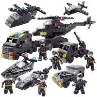 兼容legao积木玩具拼装6警察直升机7男孩拼插8儿童10玩具12岁