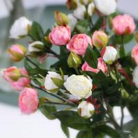 仿真花玫瑰花干花花束房间卧室客厅饰品