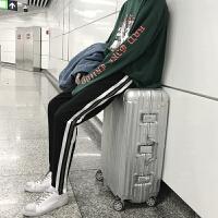 新款帅潮男士修身韩版小码运动裤织带休闲裤小个子S码27号