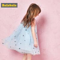 巴拉巴拉儿童公主裙女童夏装2018新款淑女连衣裙童装小童宝宝裙子
