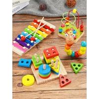 幼儿童形状认知拼图玩具宝宝1-2周岁3男孩女孩数字早教积木