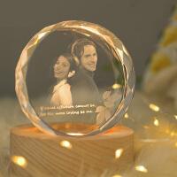 相片制作照片3D K9水晶摆件个性浪漫定制床头灯创意生日结婚礼物