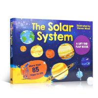 现货 英文原版进口童书 The Solar System 儿童学习太阳系绘本 大开本纸板揭页认知 3-5-6-8岁宝宝
