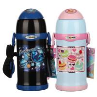 象印(ZOJIRUSHI) 儿童保温杯吸管杯SC-ZT60不锈钢进口双盖两用大容量保温瓶600ml