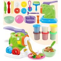 儿童橡皮泥模具工具套装彩泥手工制作冰淇淋面条机玩具 女孩 新款大号面条机21件套 含泥6瓶