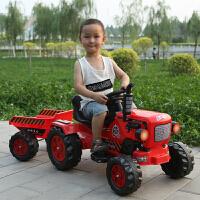 手扶拖拉机儿童电动车儿童电动手扶拖拉机东方红可坐人大号仿真脚蹬挖土机超大型玩具车
