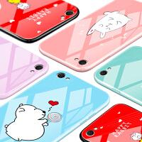 vivoy67手机壳玻璃可爱vivoy66女款潮韩国i个性创意a卡通L防摔套