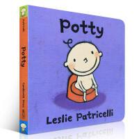 英文原版进口绘本 on my Potty 名家 Leslie Patricelli 培养宝宝上厕所 如厕习惯 启蒙正版