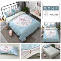 床上全棉磨毛四件套纯棉单人双人被套卡通冬季1.8m床保暖床上用品