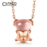 T400萌萌粉色福气小猪猪本命年运气银饰项链 B2823