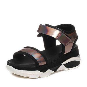 Tata/他她夏季专柜同款牛皮女凉鞋2PJ05BL6
