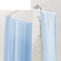 免打孔浴帘杆伸缩杆直杆型卫生间浴室杆承重撑杆弧形L型U型