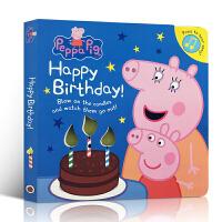 英文原版 Peppa Pig: Happy Birthday! 发声书 粉红猪小妹生日快乐 亲子阅读学习英语启蒙