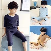 男童睡衣夏季儿童家居服薄款3中大童5纯棉短袖空调服7夏天9岁男孩