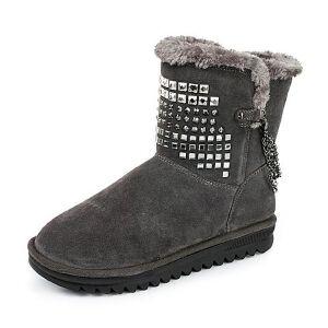 Teenmix/天美意专柜同款二层牛皮女靴6C961DZ5