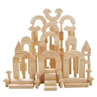 大块木制实木原色积木幼儿园大型建构积木智力儿童早教玩具