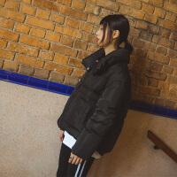羽绒服女短款高领加厚面包服2018冬装韩版宽松大码时尚外套潮