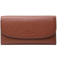 【9.9新】COACH 女款棕色皮革钱包