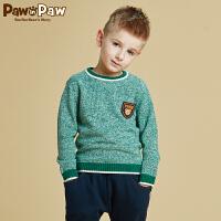 【秒杀价:120】Pawinpaw宝英宝卡通小熊童装冬款男童毛衣针织
