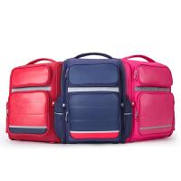 卡拉羊书包-3-4-6年级一体式打开小学生男女儿童小孩双肩包背包低年级防水抗污耐磨面料CX2715