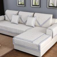 加厚布艺沙发垫棉麻四季通用坐垫子简约现代全包盖防滑套罩巾