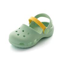 小公主女童凉鞋宝宝1-3岁防滑软底夏小女孩儿童沙滩鞋包头洞洞鞋