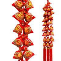 中国结挂件家居玄关装饰喜庆串刺绣福袋挂饰