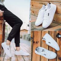 夏季男鞋子新款韩版防滑板鞋透气小白鞋男士休闲百搭白色潮鞋子男